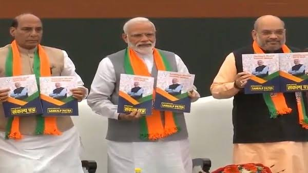 BJP manifesto stresses welfare