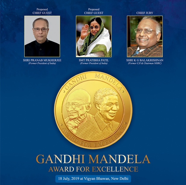 BRICS Chamber of Commerce to be a part of Gandhi Mandela Award 2019