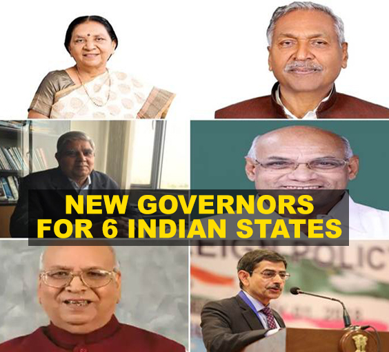 In a major rejig, six states get new Governors