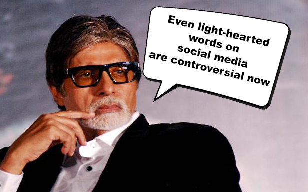 Even light-hearted words on social media are controversial now: Amitabh Bachchan