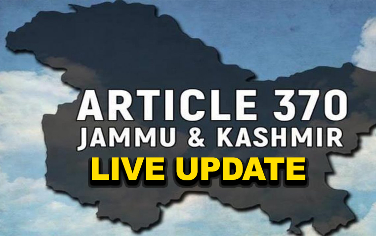 Kashmir Live: Govt. decides to repeal Article 370 & 35A