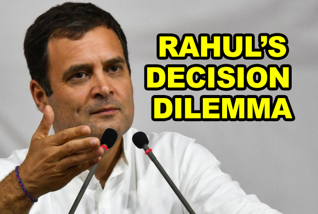 RAHUL GANDHI'S DECISION WILL DECIDE THE SUCCESS OF THE CONGRESS-FREE INDIA CAMPAIGN