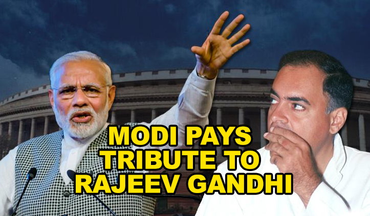 PM Modi pays tributes to Rajiv Gandhi on his birth anniversary