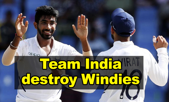 Indian pace bowlers destroy West Indies