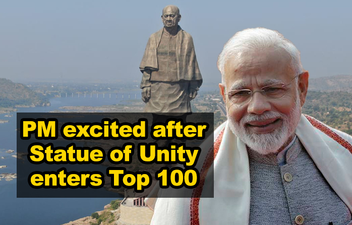 PM happy over listing of Statue of Unity in 'World's 100 Greatest places'