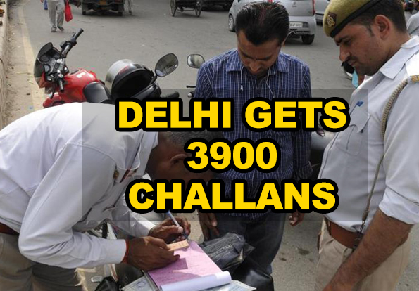 Delhi Police issues 3900 challans on the first day of Motor Vehicles Act