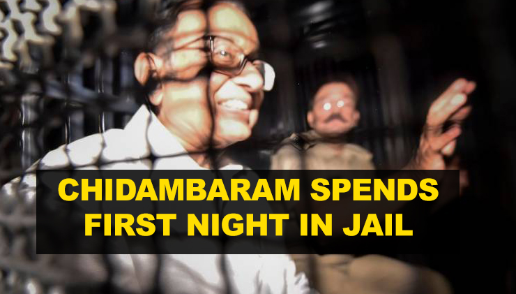 Chidambaram spends first night in Tihar Jail