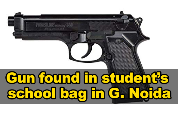 Gun found in student's school bag in Greater Noida
