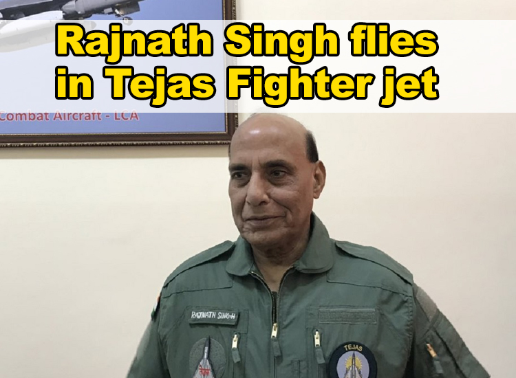 Historic moment for India as Rajnath Singh flies in Tejas Fighter jet