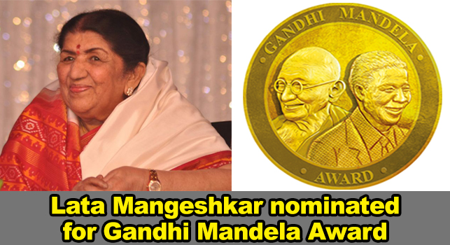 Lata Mangeshkar nominated for Gandhi Mandela Award 2019
