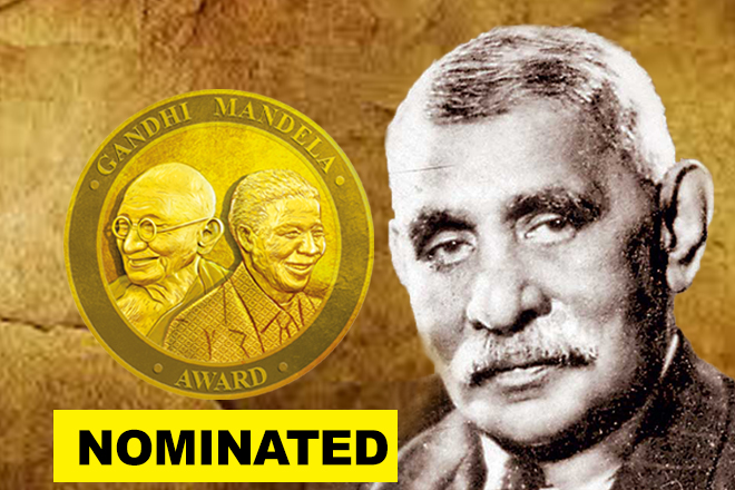 'Father of Sri Lanka' nominated for Gandhi Mandela Award 2019