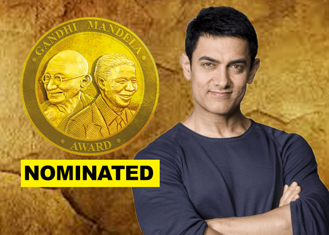 Bollywood actor Aamir Khan nominated for Gandhi Mandela Award 2019