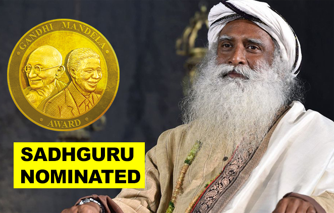 Sadhguru Jaggi Vasudev nominated for Gandhi Mandela Award