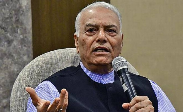 Yashwant Sinha announces his front will contest Bihar Assembly poll