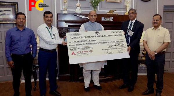 GRSE Pays Interim Dividend of Rs 44.10 Crores for FY21 to Government of India