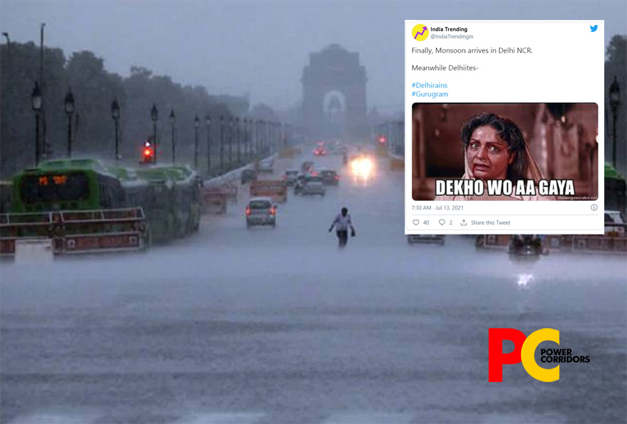 #DelhiRains trends on Twitter with memes as monsoon arrives in Capital