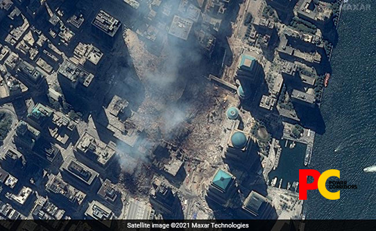 On the 20th Anniversary of 9/11 Attacks, Satellite Images Show Devastating Scenes of the Horrific Incident